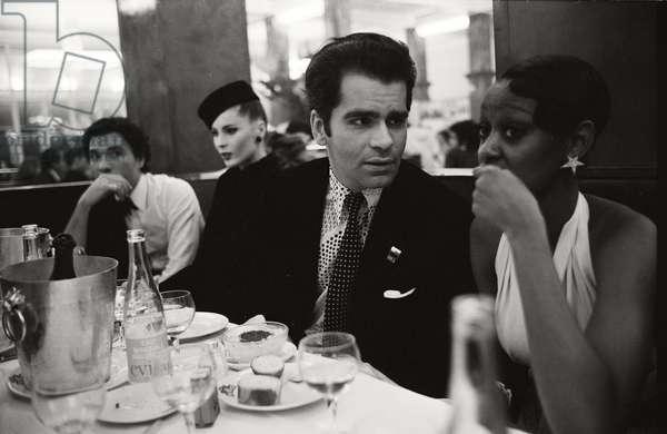 Karl Lagerfeld in Paris, 1972