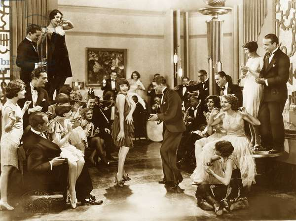 Charleston dancers at a dance event in the 20's (photo)