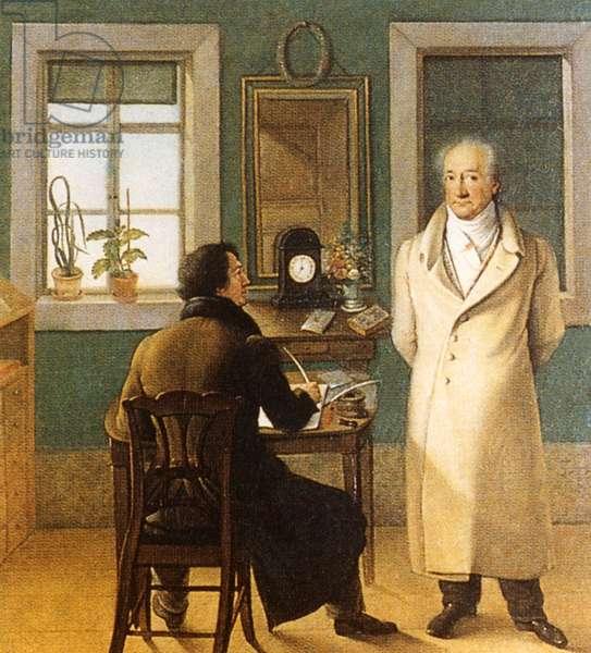 Johann Wolfgang von Goethe with J.P. Eckermann, 1831