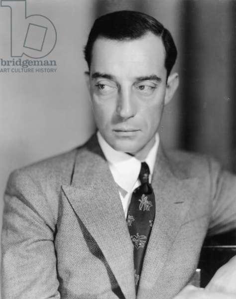 Buster Keaton (b/w photo)