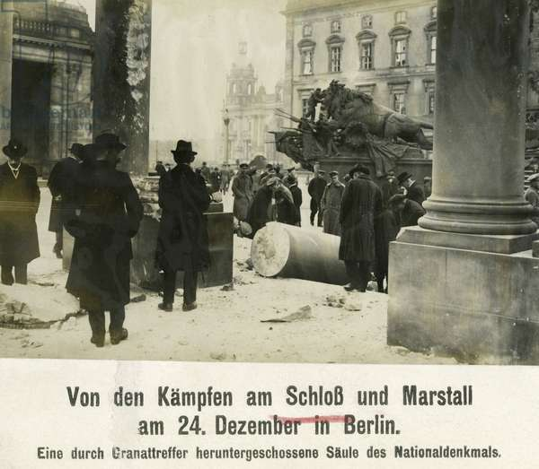 The destroyed National Kaiser Wilhelm Monument in Berlin, 1918