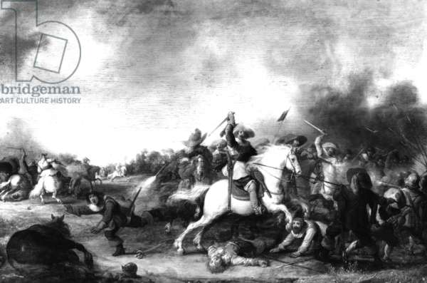 Painting of a cavalry battle from the Thirty Years' War, 1618-1648