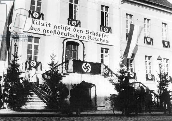 Tilsit celebrating the integration of the Klaipeda Region, 1939 (b/w photo)