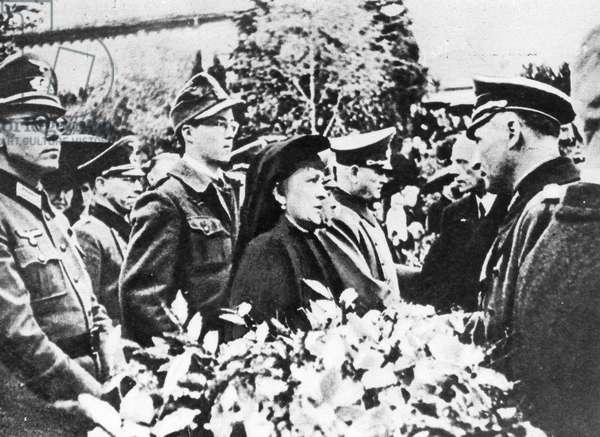 Erwin Rommel's funeral, 1944 (b/w photo)