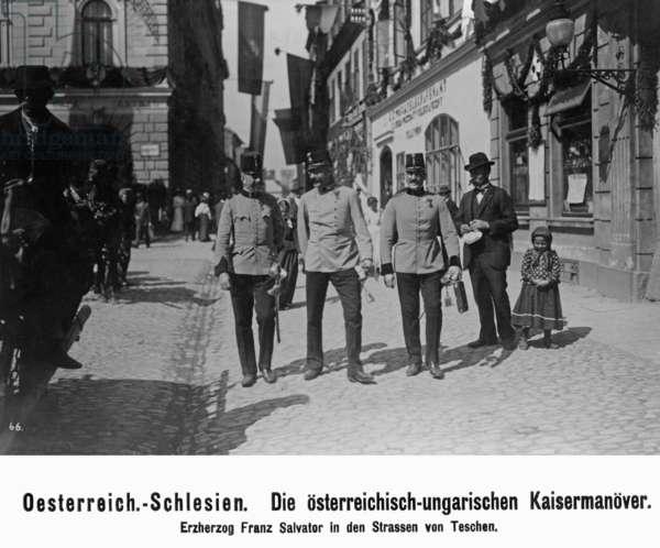 Archduke Franz Salvator in the streets of Teschen, before 1918