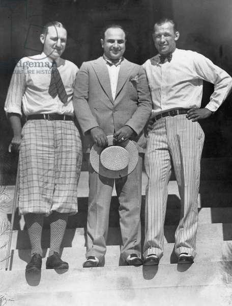 Jack Sharkey, Al Capone, Bill Cunningham, 1930 (b/w photo)