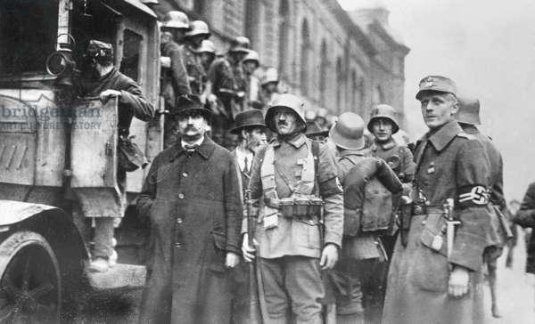Hitler Putsch, 1923 (b/w photo)