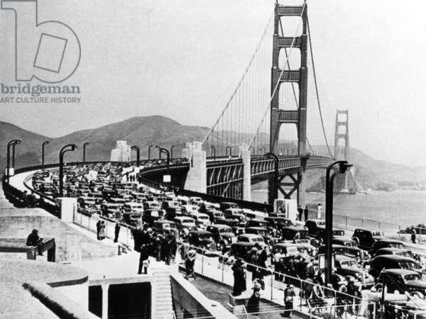 Golden Gate Bridge, 1937 (b/w photo)