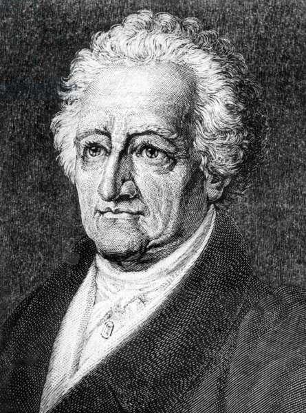 Portrait of Johann Wolfgang von Goethe (b/w photo)