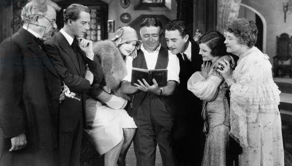Lars Hanson, Greta Garbo, Clarence Brown and John Gilbert (b/w photo)
