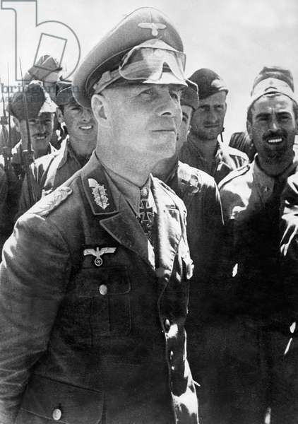 Portrait of Erwin Rommel, North Africa, 1942 (b/w photo)