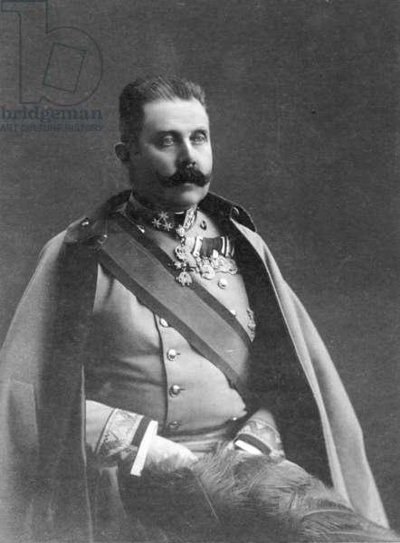 Archduke Franz Ferdinand, 1911 (b/w photo)