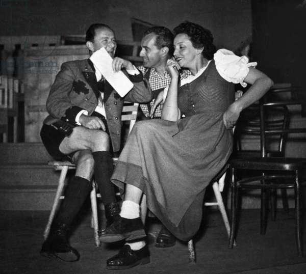 Judith Holzmeister, Oskar Karlweis and Jans Jaray, 1950's