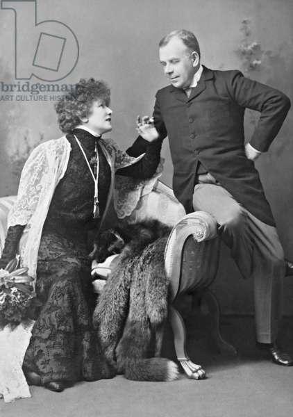 Sarah Bernhardt in London (b/w photo)
