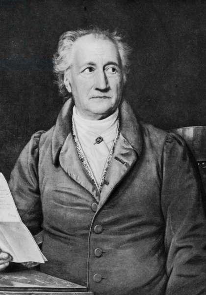 Johann Wolfgang von Goethe (b/w photo)
