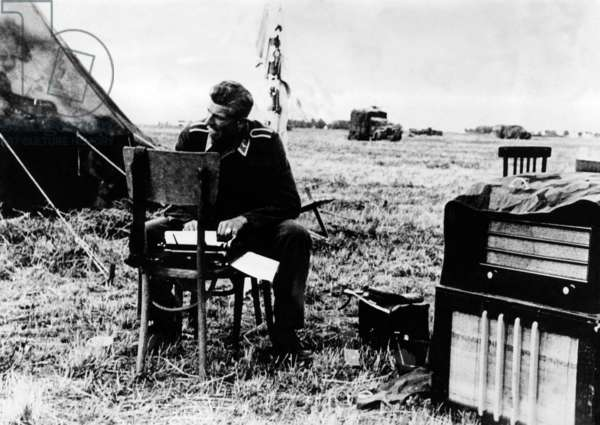 German war correspondent writing his report on the Eastern Front, 1941