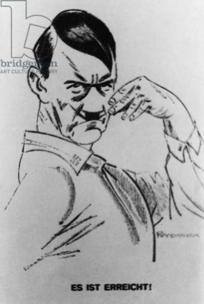 Adolf Hitler caricature, 1933 (poster)