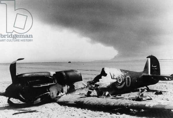 Battle of Dunkirk, 1940 (b/w photo)