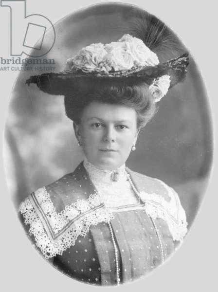 Sophie von Hohenberg, wife of Archduke Franz Ferdinand, 1913 (b/w photo)