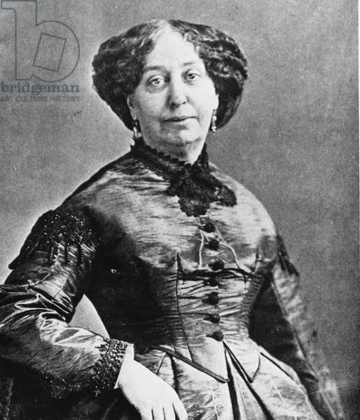 Portrait of George Sand by Nadar, 1866 (b/w photo)