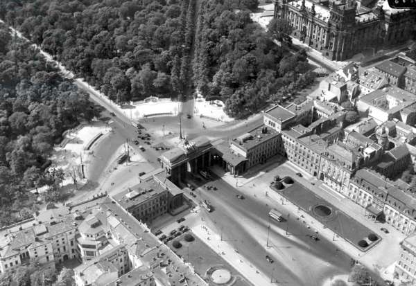 Brandenburg Gate and Pariser Square, 1933 (b/w photo)