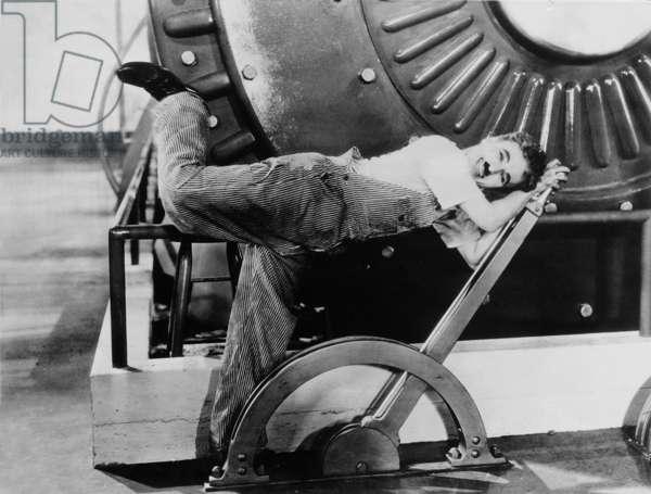 Charles Chaplin in 'Modern Times', 1936 (b/w photo)