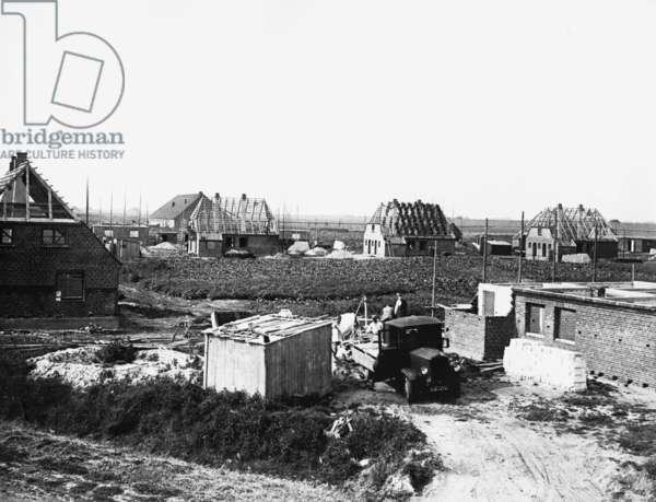 The Adolf-Hitler-Koog near Husum, 1938 (b/w photo)