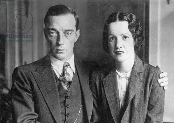 Buster Keaton and Natalie Talmadge (b/w photo)