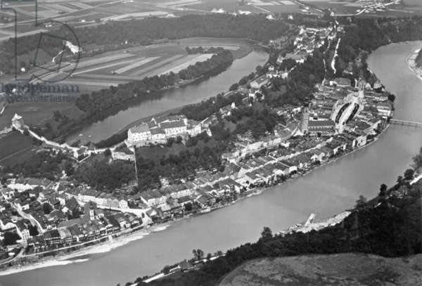 Burghausen an der Salzach, 1933 (b/w photo)