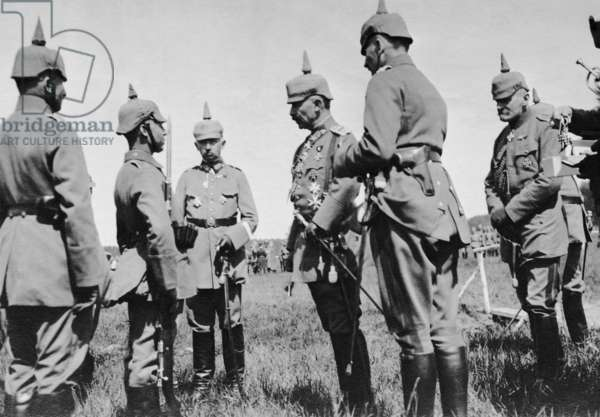 Kaiser Wilhelm II on the Eastern front, 1916 (b/w photo)