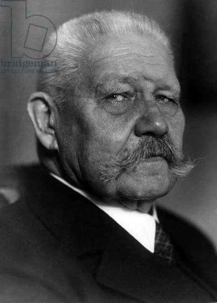 Paul von Hindenburg, 1930 (b/w photo)