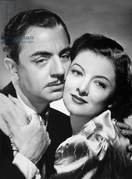 William Powell and Myrna Loy in 'Double Wedding', 1937 (b/w photo)
