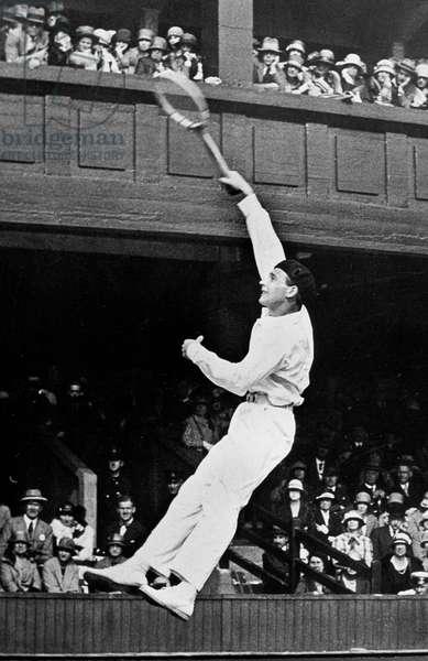 Jean Borotra, French tennisman, here at Wimbledon