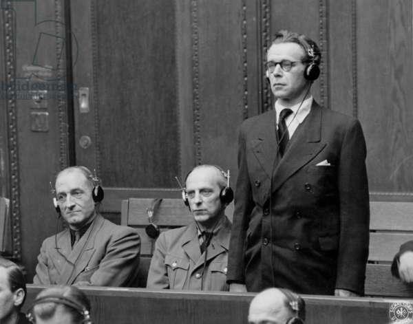 RuSHA trial in Nuremberg (1947 - 1948) : Herbert Huebner, Werner Lorenz, Heinz Brueckner