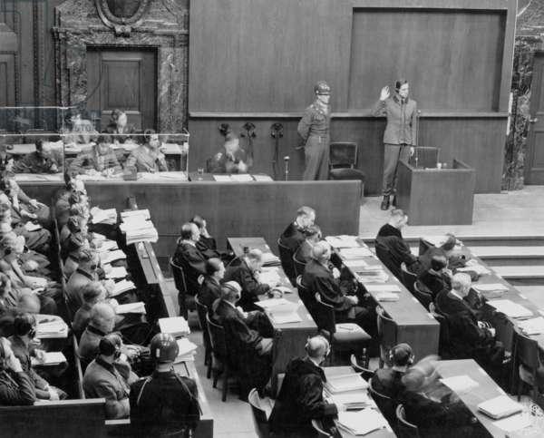 Doctors' trial in Nuremberg (1946 - 1947) : Karl Brandt, Hitler's doctor, one of the 23 nazis doctors, he was sentenced to hanging