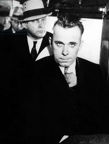John Dillinger (1903-1934) American bank robber here c. 1934