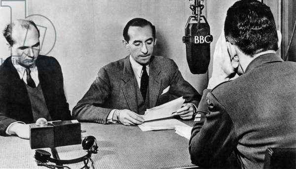 Andre Gillois, one of the voices of free France in London on the BBC radio 1940-1944
