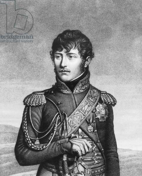 Eugene de Beauharnais , son of Alexander and French empress (from first wedding) Josephine, stepson of French emperor NapoleonBonaparte France
