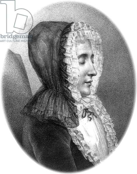 Marie de Vichy Champrond, marchioness of Deffand (1697-1780) French letter-writer who had a literary salon, engraving