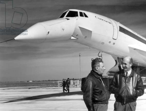 Pilot Andre Turcat for 1st fly with Concorde on march 2, 1969 in Toulouse (France)