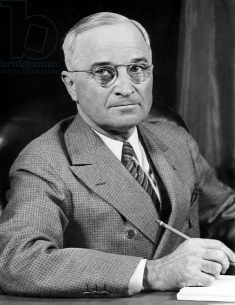 Harry Truman (1884-1972) american president in 1945-1953