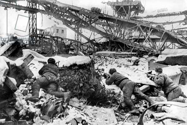 Battle of Stalingrad (september 1942 - february 1943) : soviet soldiers