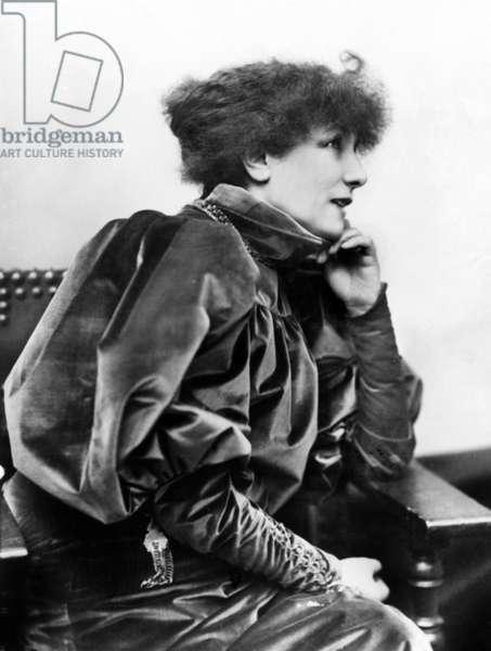 Comedian Sarah Bernhardt (1844-1923) in play Gismonda by VictorienSardou, 1894