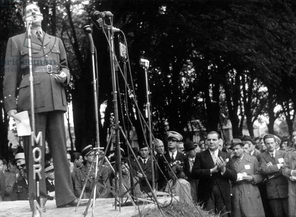 Speech of General De Gaulle in Bayeux north of France june 1946