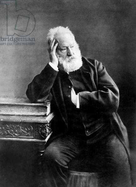 Victor Hugo (1802-1885) French poet and novelist picture by Paul Nadar, 1884