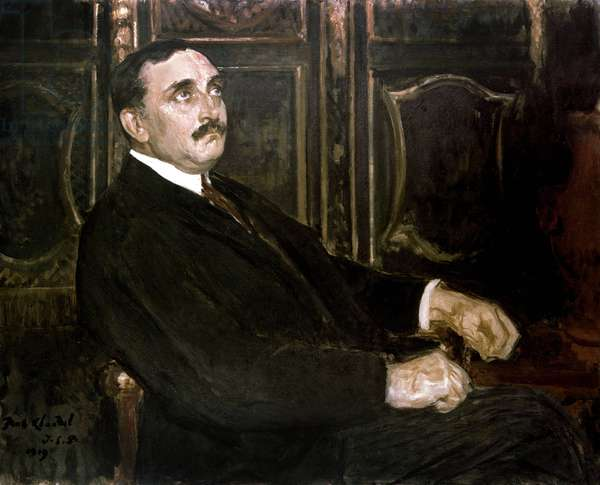 French writer and diplomat Paul Claudel, 1919 (oil on canvas)