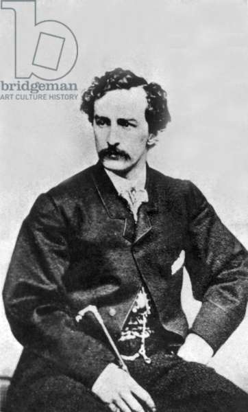 John Wilkes Booth (1838-1865) murdere of Abraham Lincoln in 1865