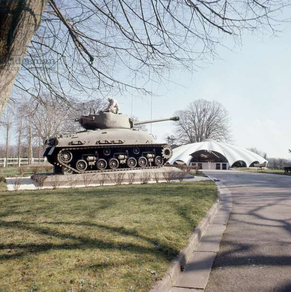 Tank at the museum of landing in Sainte Mere l'Eglise (France)