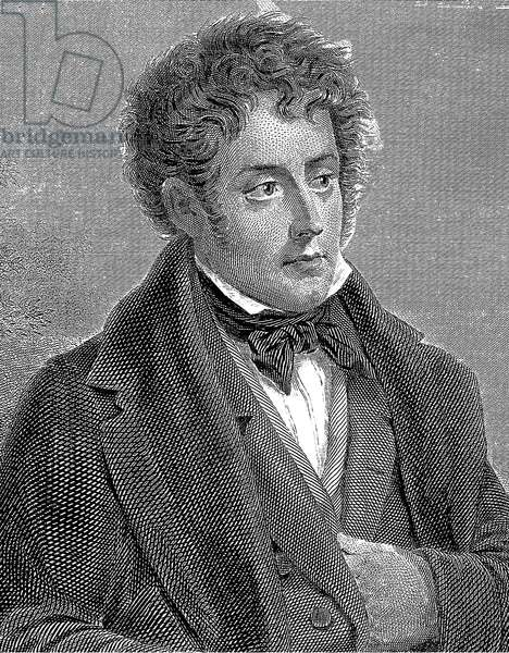 Francois Rene French writer, viscount of Chateaubriand (1768-1848) French writer, engraving