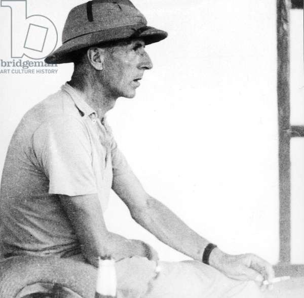 Pierre Teilhard de Chardin (1881-1955) French priest, theologian, scientist, here c. 1935 in India